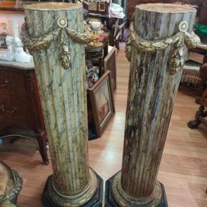 ξύλινες κολώνες εποχής
