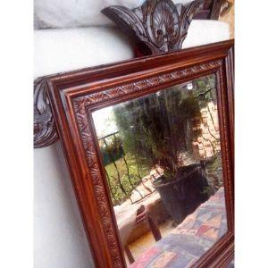 συλλεκτικός σκαλιστός καθρέφτης εποχής 1880
