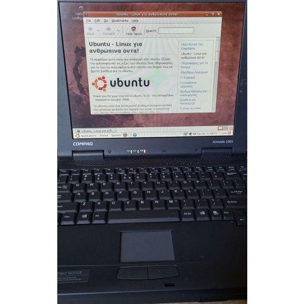 COMPAC ARMADA 100S ME UBUNTU 8.10