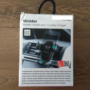 Βάση Κινητού Τηλεφώνου με Ασύρματο Φορτιστή για τα Αυτοκίνητα Wolder InnovaGoods