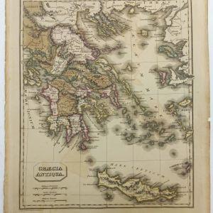 Χάρτης της Αρχαίας Ελλάδος GRAECIA ANTIQUA 1825