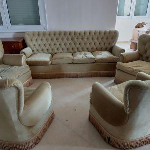 Σετ σαλόνι με 4 πολυθρόνες σε άριστη κατάσταση