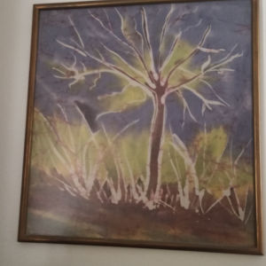 πίνακας ζωγραφικής σε υφασμα μπατικ