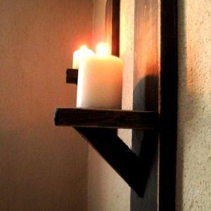 Ξύλινα διακοσμητικά τοίχου (για κεριά, ρεσό) από παλέτα