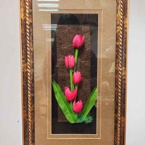 Πίνακας με διακοσμητικά λουλούδια
