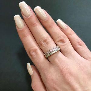 Δαχτυλιδι 18k με Μπριγιάν