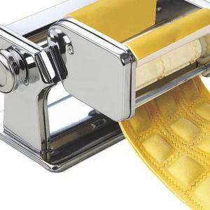 40Ε   Μηχανές για ραβιόλι     Κατασκευασμένο από υψηλής ποιότητας χάλυβα, εξοπλισμένο με νικέλιο χάλυβα κύλινδρο, εύκολο στη χρήση, μέγεθος: 120x110x170 (mm)