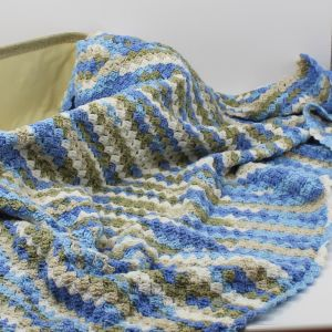 Κουβέρτα λίκνου κούνιας παιδικό κρεβάτι μπλε