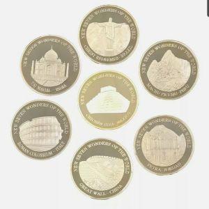Συλλεκτικά κέρματα επίχρυσα 24Κ