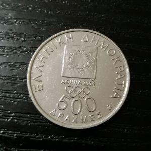 Αθήνα 2004 -- Δραχμές 500 σειρά 6 τεμαχίων.