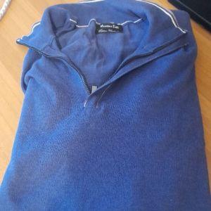 Μπλουζα αντρικη λεπτη massimo Dutti με δερμα στους αγκωνες