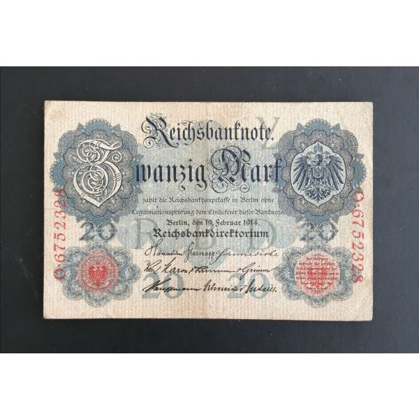 20 marka germanias 1914.
