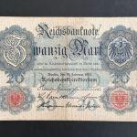 20 Μάρκα Γερμανίας 1914.