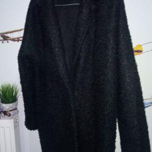 Μαύρο παλτό τύπου πρόβατο