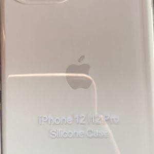 Άσπρη Θήκη σιλικόνης Apple iPhone 12 Pro