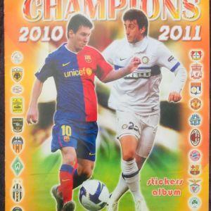 Άλμπουμ EUROPE'S CHAMPIONS 2010-2011 (με 209 χαρτάκια κολλημένα)