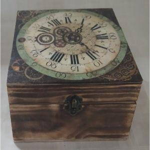 """Ξύλινο κουτί με εικόνα """"Ρολόι"""""""