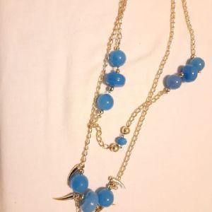 Vintage Κολιέ με Μπλε Πέτρες