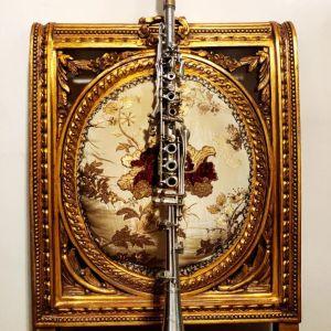 Συλλεκτικό ιταλικό Κλαρινέτο - Κλαρίνο του 1910 Romeo Orsi Milano μετταλικό μουσικό όργανο αντίκα - Silver Antique Clarinet Collectible Mettalic διακόσμηση διακοσμητικό ντεκόρ ρετρό κλασικό