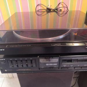 Ηχοσύστημα με στερεοφωνικό, πικάπ Sony + ηχεία Celestion