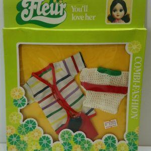 VTG 80s HTF DUTCH SINDY FLEUR FASHION DRESS CLOTHES COMBI-FASHION NRFB