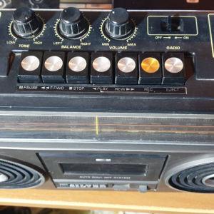 ραδιο κασετόφωνο αντίκα silver