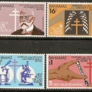 BAHAMAS - 1982 -  DISCOVERY OF TUBERCLE BACILLUS -  MNH