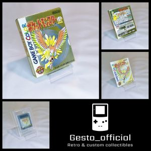 Pokemon Gold Japanese Version Complete (Box, manual, Cartridge Tray & Case) Used Gesto_official