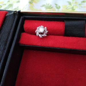 δαχτυλίδι με διαμάντι και διαμαντάκια παλαιάς κοπής με λευκό χρυσό. έτους 1967 αγορασμένο από χρυσοχοο Παζολιδης Θεσσαλονίκης