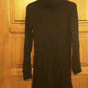 Μπλουζοφόρεμα μαύρο μάλλινο Μ