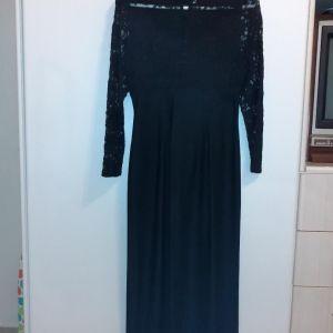 Μαύρο φόρεμα αμπιγέ με δαντέλα