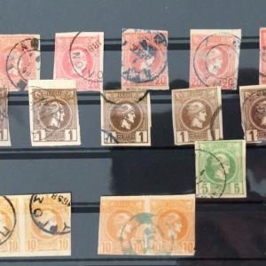 Ποικιλια γραμματοσημων 20 μικρες κεφαλες Ερμη μελετης.