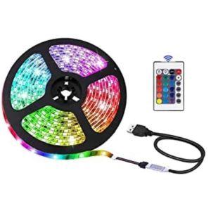 RGB LED strip με τηλεχειριστήριο - 12V 5M IP65