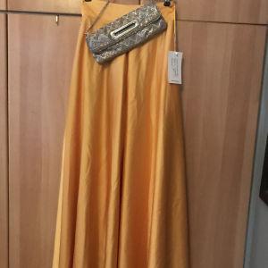 σατέν ψηλόμέση φούστα Cecilia