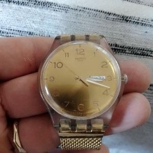 γυναικείο ρολόι Swatch χρυσό