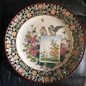 Διακοσμητικό Πιάτο Χειροποίητης Πορσελάνης 120 ετών