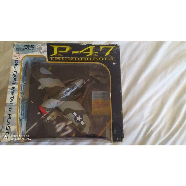 aeroplano P47 Thunderbolt siderenio, klimaka 1:48