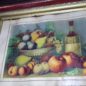 πίνακας σε μεταξοτιπια εποχής 1920 30
