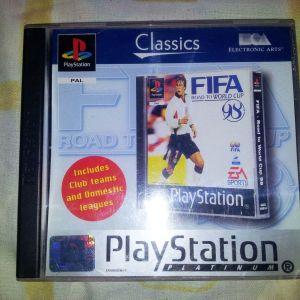 ΠΑΙΧΝΙΔΙ VIDEOGAME PS1 - FIFA - ROAD TO WORLDCUP 98