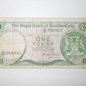 Scotland, 1 Pound, 1986