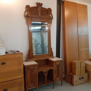 Έπιπλο εισόδου με καθρέπτη, σκαλιστό χειροποίητο