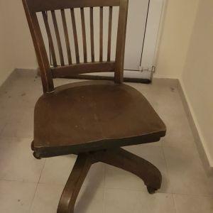 Ξύλινη καρέκλα γραφειου μεσοπολεμου Αμερικάνικης κατασκευης
