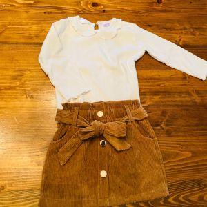 Σετ φούστα κουλέ με δυο μπλουζάκια για 18 μηνων