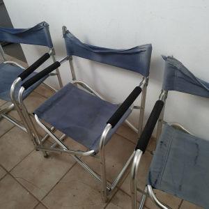 Σετ 4 καρέκλες παραλίας σκηνοθέτη