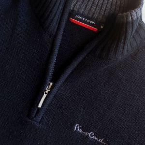 PIERRE CARDIN MEDIUM ανδρικό πουλόβερ με φερμουάρ