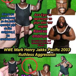 Wrestler Mark Henry Jakks Pacific 2003 Ruthless Aggression Action figure WWE Αυθεντική Φιγούρα για Συμπλήρωση η Ανταλλακτικά