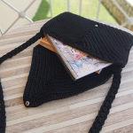 χειροποίητη πλεκτή τσάντα