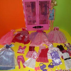 Ντουλάπα barbie  & αξεσουάρ & κούκλα