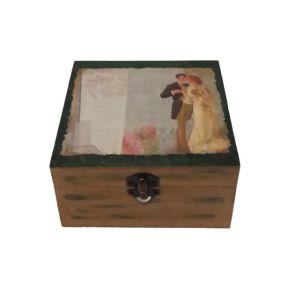 """Ξύλινο κουτί αποθήκευσης vintage """"ΖΕΥΓΑΡΙ"""""""