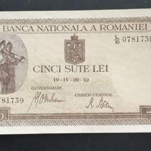 500 Λέϊ  Ρουμανίας 1942.